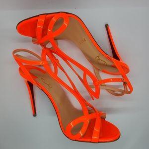 Christian Louboutin Neon Orange Sandals 37